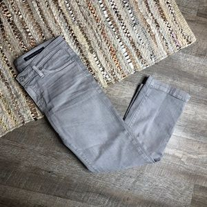 AG Adriano Goldschmied Gray Crop Jeans